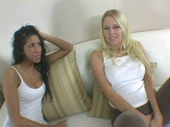 Blonde and her black haired hot ally