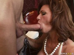 Deauxma is a hot MILF who likes putting soaked dick in her mouth