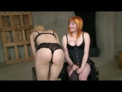 Lesbian Spanking And Strap On