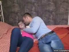 Sexy casual foursome european teen fuck