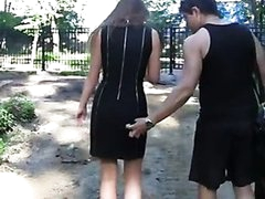 Hot public fuck in the park