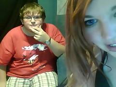 Emo Teen Sucks On Webcam
