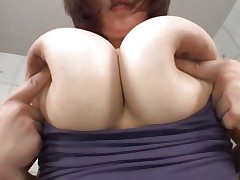 groping a pair of huge soft bumpers
