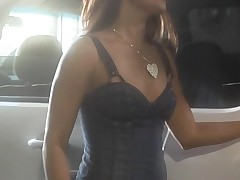 Gorgeous chick with sappy boobies gets nailed on the camera