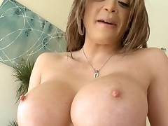 Slutty chick with good breasts likes to be double penetrated