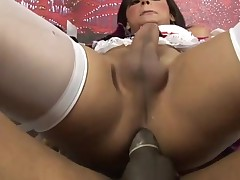 Attractive sex-obsessed ladyboy suck and copulates like hell