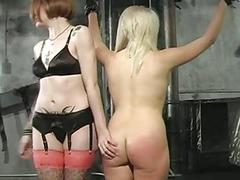 Her sweet arse beat to red