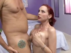 Oiled up titjob with redhead Mz Berlin