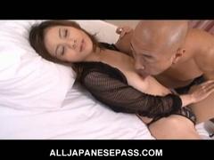 Busty japanese chick natsumi mitsu trades head and receives nailed