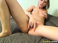 Miniature Golden-haired Hardcore Finger Fuck HD