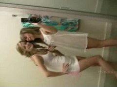 Rilee and Sara get naked in the dressing room