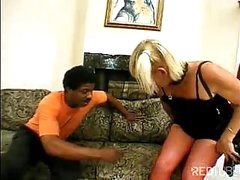 Horny crossdresser drilled by black stud