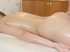 Excited Dusya enjoys juch more than just a masage from this horny male