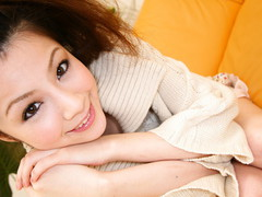 Rina Koizumi Lovely Oriental model is getting her curly love tunnel licked