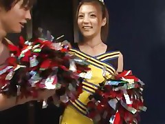 cute oriental cheerleader receives a naughty treatment
