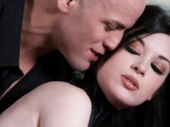 Kinky girl in collar is perfect beauty in submission to him