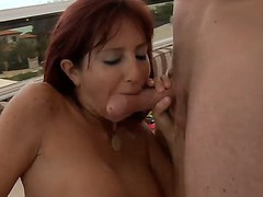 Levi Specie pounding hard Tara Holidays throat, she sucks great and gets thanked by ass and cunt lick and fuck!