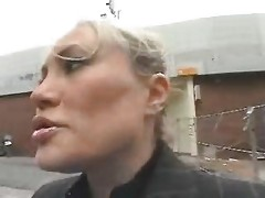 Young Guy Entice A Busty Mommy In The Street And Fuck Her