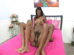 Black girl with lengthy hard meat inside her