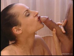 Naturally Busty Dark brown Michelle Wild Goes Anal and Gets Facialized