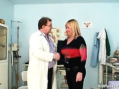 Big tits blonde mature hairy pussy exam