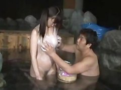 Asian Hotty In Swimsuit Giving Blowjob In The Bath