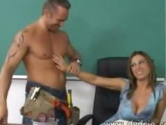 Construction Worker Finds Hot Teacher Devon Lee At Her Desk And Makes Her Suck His Dick Before He Bonks Her Cunt Right There In The Classroom Mature Boobs Cumshot