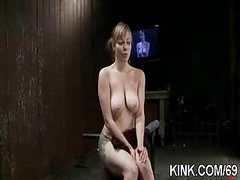 Slave sexy girl entertains her husband