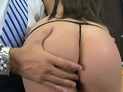 Superb Amy ried gets hard pounded in her shaved cunt by hunk Keiran Lee