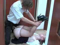 Inessa&Mike office hose sex act