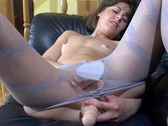 Viola B in pantyhose action