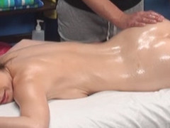 Gia tempted and fucked by her massage therapist on hidden camera