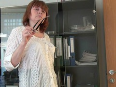 Silvia at work
