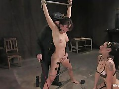 hot bound milf feels a deep pleasure