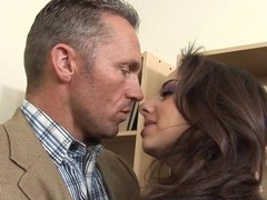 Very horny sexy teacher fucks the shit out of his hawt student honey