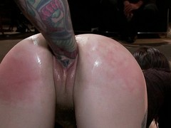 Group pounded hard in the ass
