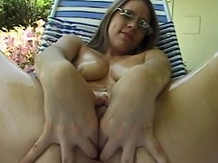 Receive willing to be entertained by this luscious dark brown beauty as she...