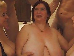 Hot chubby aged orgy