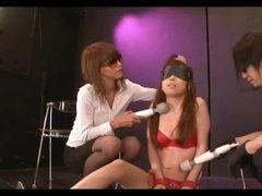 Asian Made To Orgasm Throughout Red Panties