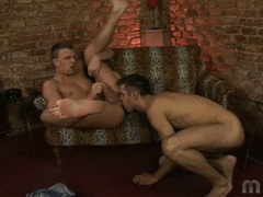 Two homosexual boys do some ass licking and fingering