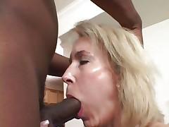 Tempting Erica Lauren gets her slippery throat slammed