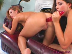 Bad Girl Zafira Shares A Long Rubber Toy With Her Friend