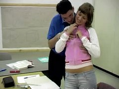 Teacher Shows his Big Cock to a Horny Legal age teenager Student