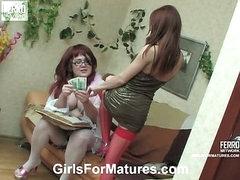 Emma&Alice mature lesbian video