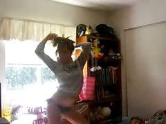 Hot girl stripping and showing her stuff
