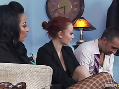 anissa kate receives her large bazookas licked