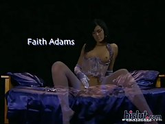 Faith Adams is a tall drink of water