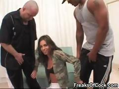 Sexy pornstar Naomi Russell loves big black dicks and huge dildos