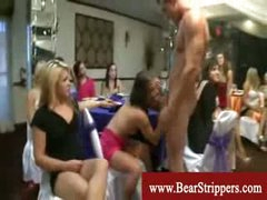 CFNM stripper raunch fest with excited ladies