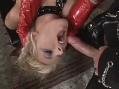 Kinky latex threesome with excellent sluts